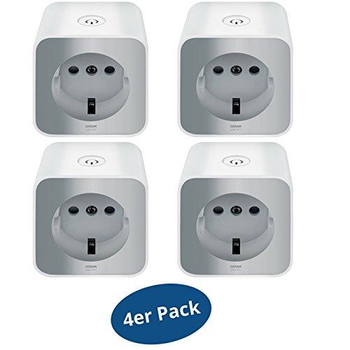 Preisvergleich Produktbild 4er Pack OSRAM Lightify Smart+ Plug WLAN Funksteckdose mit Repeaterfunktion