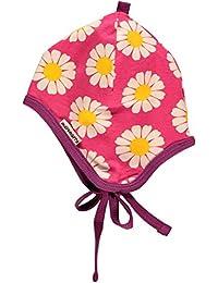 maxomorra Baby Mädchen Mütze mit Gänseblümchen pink GOTS zertifiziert