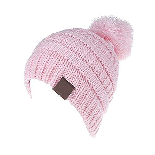 ed769c734af TianMI Chapeau Enfants Hat Hat Knit Hat Bébé Garçon Fille Chaude d hiver  Couleur Bonbon