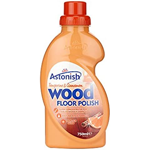 1 x ASTONISH FLAWLESS WOOD FLOOR POLISH NO RINSE FOR WOODEN FLOORS 750ML ORANGE - Tangerine & Cinnamon by