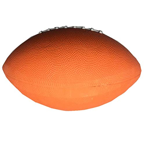 Amosfun 1pc Football Easy to Hold Soft Team Sport Rugby Ball Amercian Football for Football Fan