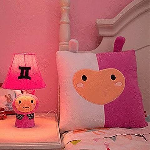gemini lampada da tavolo comodino cartone animato, carino stoffa (Gemini Tavolo)