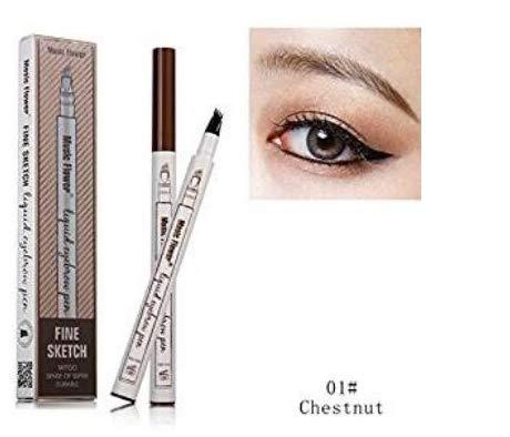 Make-up-marker Liquid (Tattoo Eyebrow Pen mit vier Tipps Langlebig Waterproof Brow Gel für Augen Make-up (1#))