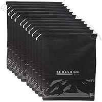 Shoeshine Pack of 12 Black Shoe Bag