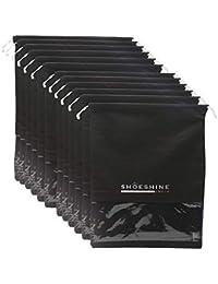 Shoeshine India Pack Of 12 Black Shoe Bag