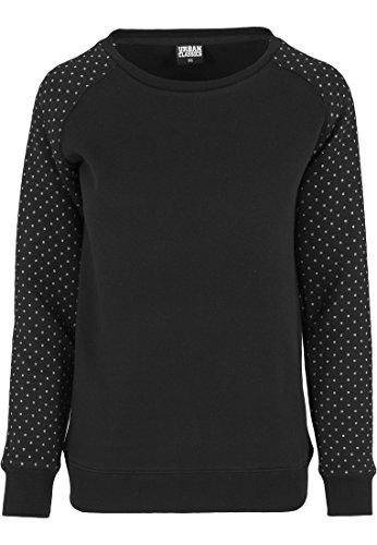 Urban Classics Damen Pullover Pullover Cross Quilt Raglan Group mehrfarbig (Blk/Wht) Small