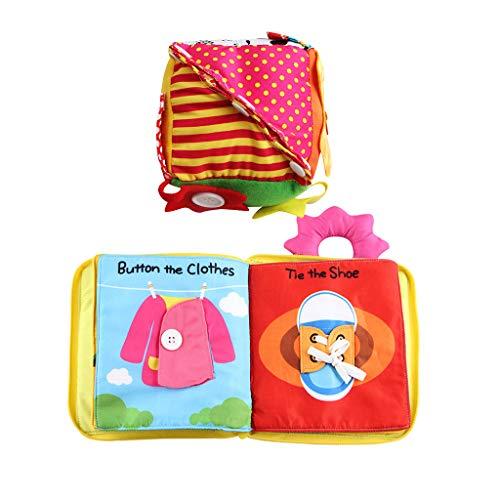 Juguete Montessori Cubo Vestir Libro Tela Suave Juguete