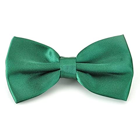 PenSee – PRE-TIED Pajarita brillante ajustable Tuxedo sólido lazo ties-more 22 colores