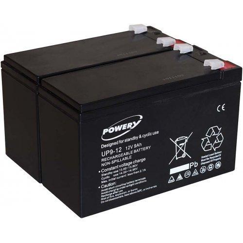 Batteria al Gel di piombo Powery per:UPS APC Smart-UPS 750 9Ah 12V