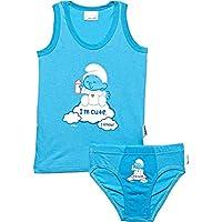 The Smurfs Vest & Underwear Set - Light Blue(18-24M), Set of 1