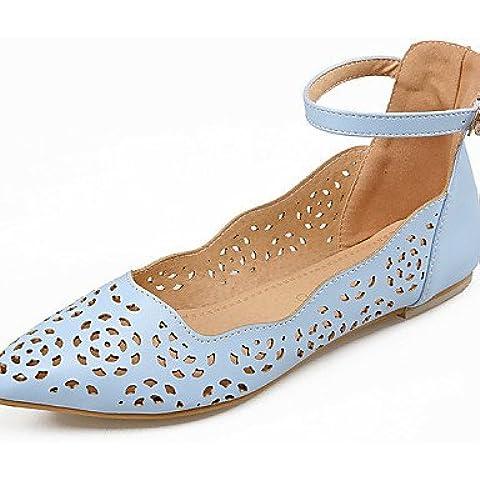 Da Wu Jia donne scarpe Scarpe Donna - Ballerine - Formale / Casual - Decolleté con cinturino / A punta - Piatto - Finta pelle - Blu / Rosa / Bianco , white-us9.5-10 / eu41 / uk7.5-8 / cn42 , white-us9.5-10 / eu41 / uk7.5-8 / cn42