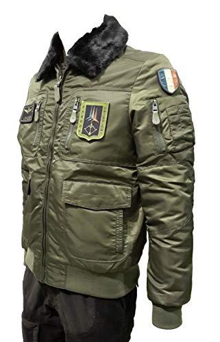 Aeronautica militare giubbotto ab1676 verde bosco pilota uomo, giacca, giubbino, pantalone, felpa (2xl it 54)