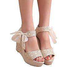 Sandalias y Chancletas de tacón Alto Plataforma para Mujer, QinMM Playa Zapatos de Verano
