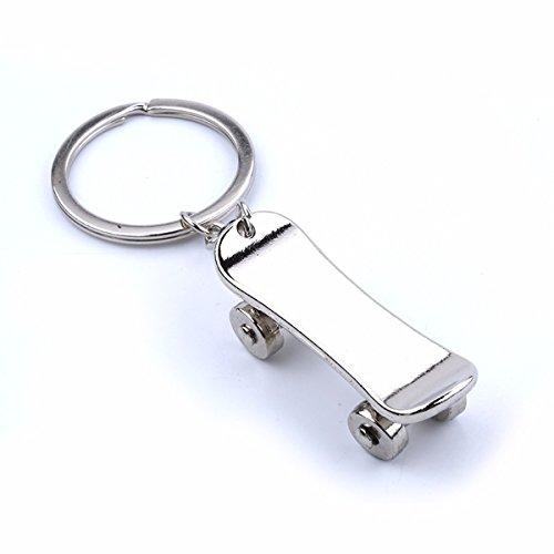 KPHY-Vier Runden Skateboard-Schlüsselanhänger Originalität Auto Schlüsselanhänger Neues Kleines Geschenk Anhänger Double Hat Roller Souvenir. (Baseball-roller-tasche)