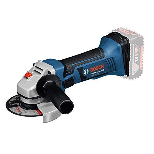 Bosch Professional Meuleuse Angulaire Sans Fil GWS 18-125 V-LI Solo (18 V, Ø Disque à ébarber / à tronçonner : 125 mm, Boîte Carton)