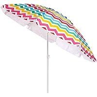 Sombrilla de Playa Parasol de Aluminio Multicolor de 220 cm Garden - LOLAhome