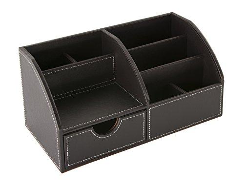 Schreibtisch Amazon (Osco BPUDO1 Luxus Faux Leder, Kleinteileaufbewahrung, braun)