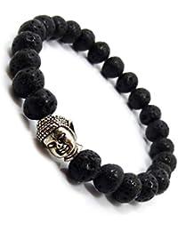 Young & Forever Mothers Day Gifts D'vine Black Lava Stone Hematite Jasper Reiki Yoga Meditation Buddha Bracelet Diffuser Bracelet for Men/Women/Boys/Girls