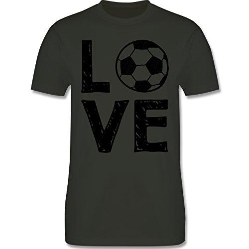 Fußball - Love Fußball - Herren Premium T-Shirt Army Grün