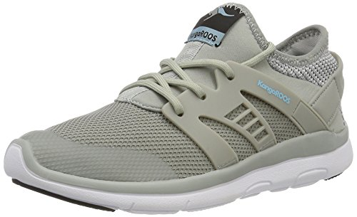 KangaROOS Xcape, Baskets Mixte Adulte Grau (Lt grey/stone Blue)