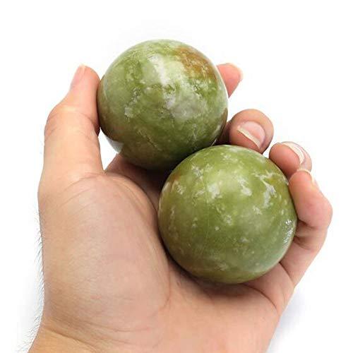 WSZTX Health Exercise Stress-Jade Baoding Ball Entspannung Relief Therapie Handpflege Werkzeug Ältere verbessern Blutzirkulation gemeinsame Ausbildung 2ST