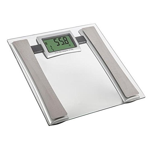 Carmen C19001 Battery Operated Glass Bathroom Scale - Silver