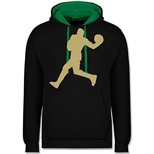 Basketball - Basketball - Kontrast Hoodie Schwarz/Grün