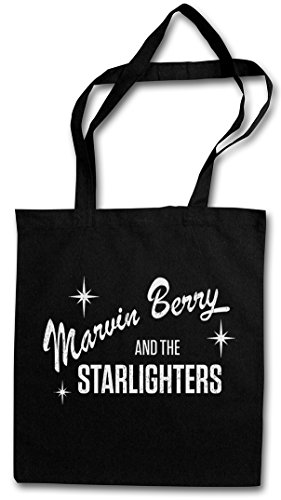 (Marvin Berry and The STARLIGHTERS Shopper Cotton Bag Einkaufstasche Tasche Stoff Stofftasche Jutebeutel Beutel - Band Music Marty McFly Back to The Delorean Time Machine Doc Brown Future)