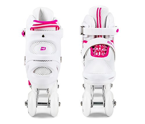 Hop-Sport 3 in 1 Inliner Inlineskates Rollschuhe Quad Dreirad Roller Jugend Erwachsene Farbauswahl Größe: 34-41 (Mint L (38-41)) -