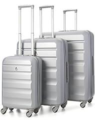 Aerolite Maleta, plata (Plateado) - ABS325 Silver 3 PCS Vendor