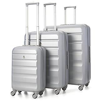 Aerolite Maleta, plata (Plateado) – ABS325 Silver 3 PCS Vendor