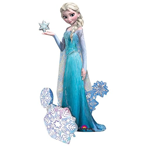 Giant 144 cm Disney Elsa Frozen Airwalkers Ballon Snow Ice Queen Folie Ice Party Geburtstag Luftballons Mädchen Event Fairytale