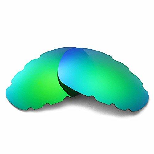 Walleva Ersatz belüftete Linsen für Oakley Juliet Sonnenbrille - Mehrfache Optionen (Emerald Mirror Coated - Polarisiert)