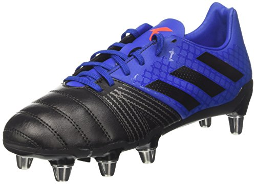 adidas Kakari SG, Scarpe da Rugby Uomo, Blu (Collegiate Royal/Core Black/Blaze Orange), 43 1/3 EU