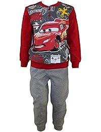 Disney Cars Lightening Mcqueen Conjunto de Camisa de Pijama de algodón, Pijama con Mangas Completas, Pijama, Ropa de Dormir, Ropa de salón para niños y niñas