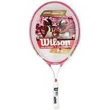 """Wilson Venus & Serena 25"""" Raqueta De Tenis - Blanco / Rosa"""