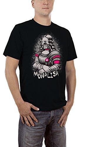 Touchlines Herren T-Shirt Mona Lisa Skull, Gr. XXXX-Large, Schwarz (Black (Zombie Lisa Mona)