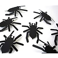 60 Pcs 3d PVC Diy Black Spider Wall Sticker Halloween Eve Home Window Decor