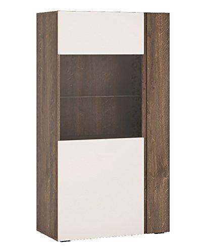 Wohnwand Wohnzimmer Set 4-teilig 220916 hidalgo / weiß Hochglanz - 4
