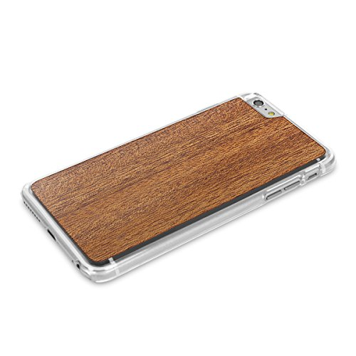 Cover-Up WoodBack Echtholz Transparent Schutzhülle für Apple iPhone 6 / 6s Plus Mahogani - Mahogany
