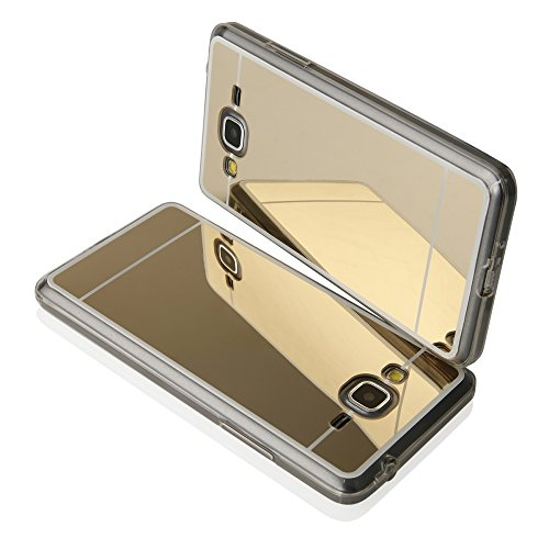 """Silikonhülle MIRROR SPIEGEL für Apple iPhone 7 4,7""""Handytasche Hülle Cover Case Schutzhülle Tasche (gold) gold"""