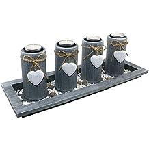 Set de luces de té de 4 estaciones del año | decoración de mesa decoración de velas decoración candelero decoración de madera decoración antepecho |accesorios para la vida de great art