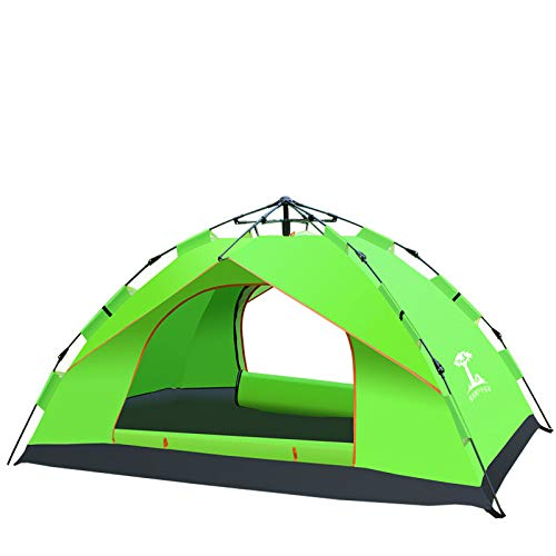 Spfree Wurfzelt 3-4 Personen Wasserdichtes Pop up Zelt Ultraleicht mit Tragetasche für Camping