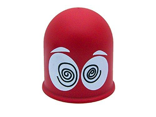 Schutzkappe Anhängerkupplung Abdeckkappe Cap Geschenk Schwindlige Augen Rot / Dizzy Eyes
