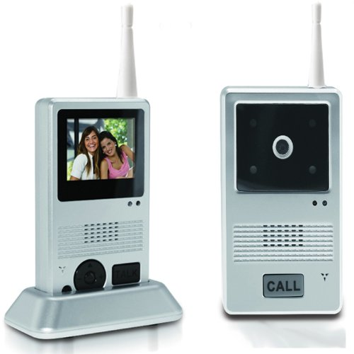 Visiophone Sans Fil - Mobile - Sonnette, Interphone, Video ou Photo LCD - Portée 25 m