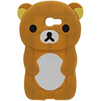 Samsung Galaxy A5 2017 / A520 Case Cover Soft Silicone Rubber Case Bumper Scratches-Resistance Lovely 3D Bear Serie Brown