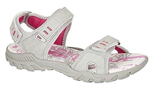 Desire Clothing PDQ Noir Taupe Sport Velcro Marche Trail Sandales tailles uk3-uk8 Gris