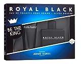 Il kit da regalo per gli Uomini ROYAL BLACK: La fragranza (Eau de toilette) 100 ml + il Sapone per la doccia 100 ml di ARNO SOREL