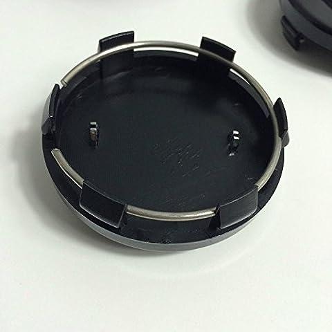 Ford Nabenkappen-Set, 4Nabenkappen für Alufelgen, 60mm, mit dunkelblauem / silberfarbenem logo