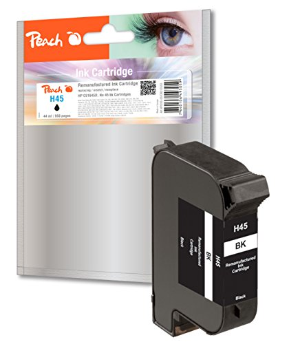 Peach Ink Cartridge HP 51645a Black Negro Cartucho de Tinta para Impresoras, Negro, Inyección de Tinta, 44 ml